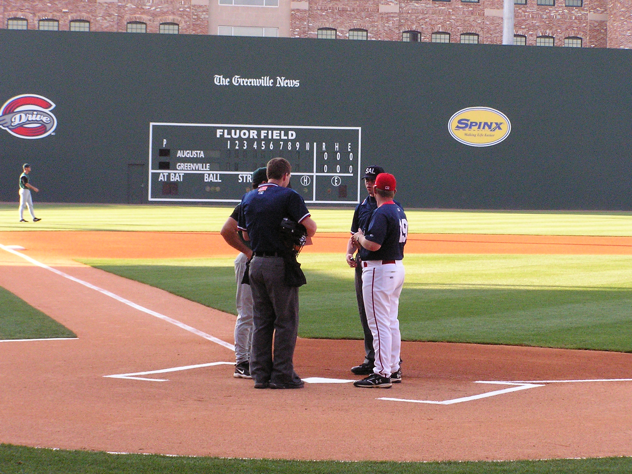 Exchanging the Line Ups - Fluor Field, Greenville