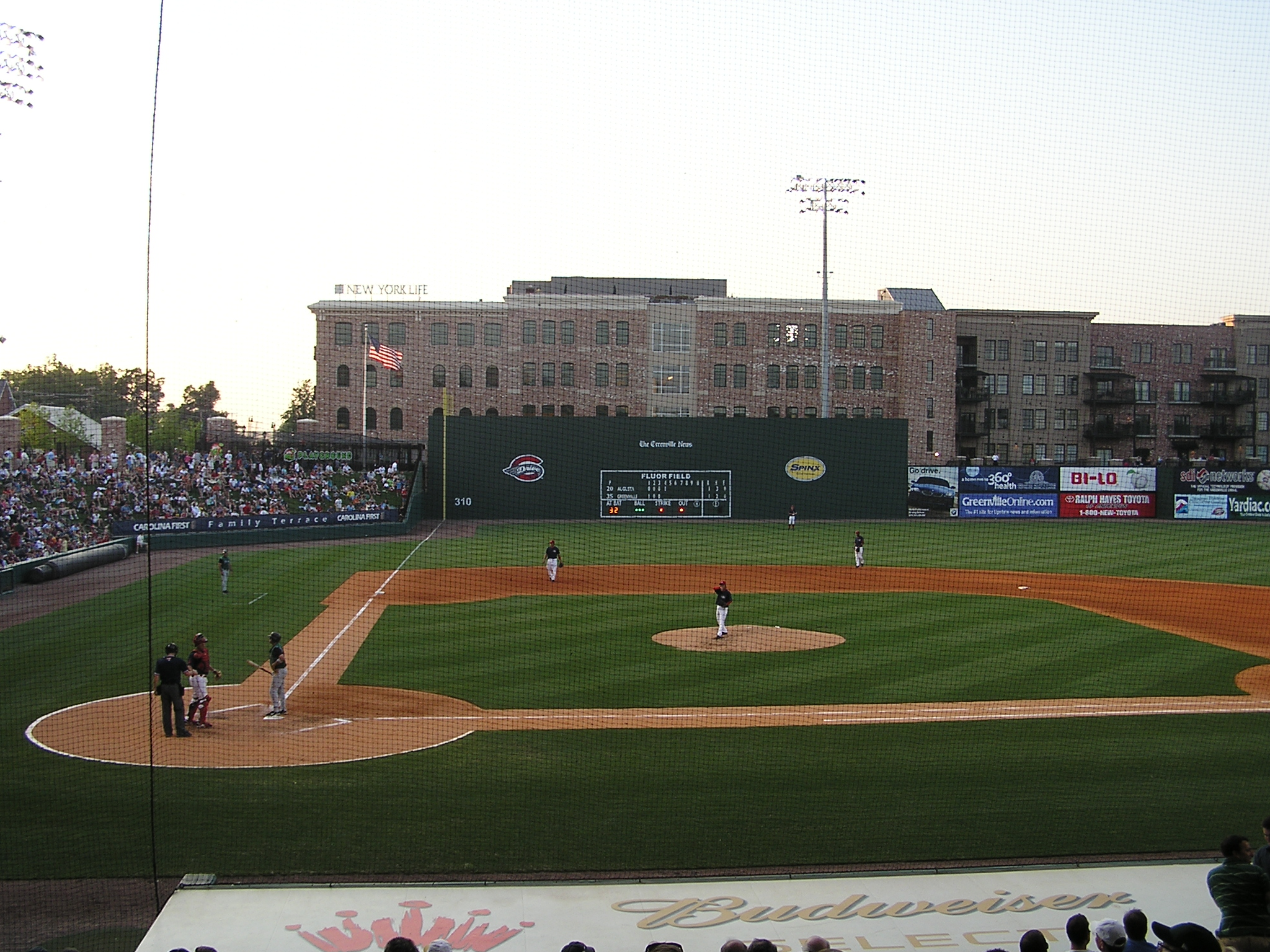 Looking towards LF at Fluor Field, Greenville